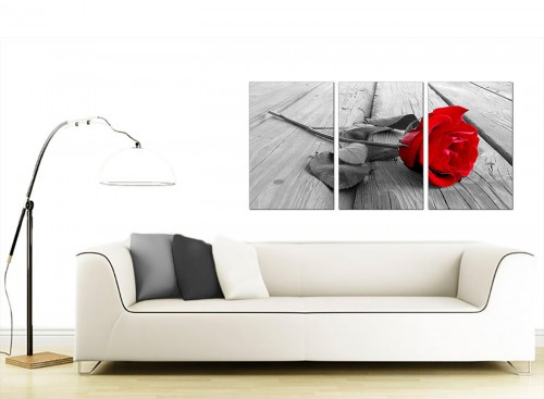 3 Panel Floral Canvas Art 125cm x 60cm 3005