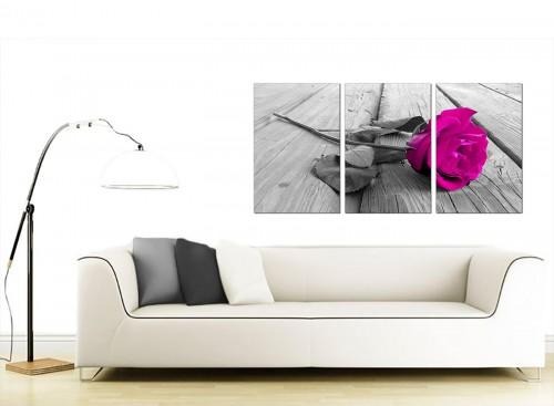 3 Part Flower Canvas Prints 125cm x 60cm 3036