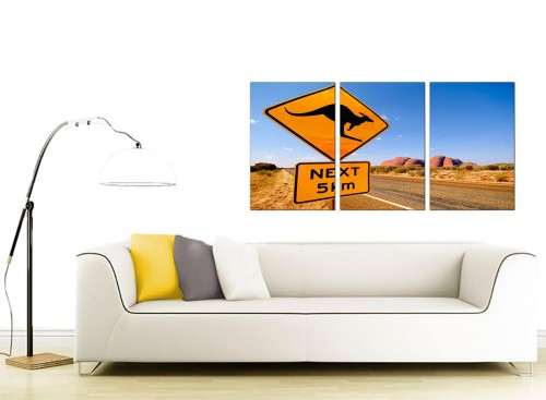 Three Part Landscape Canvas Prints 125cm x 60cm 3083
