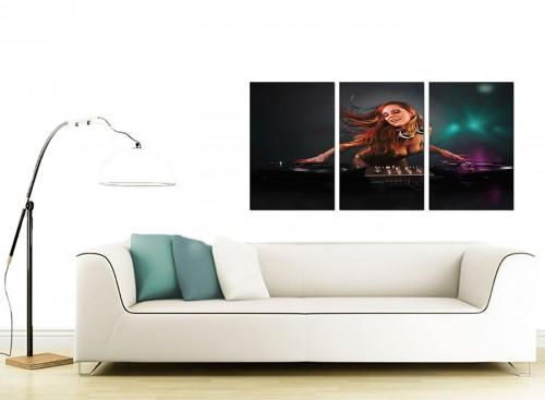 Triptych Music Canvas Wall Art 125cm x 60cm 3064