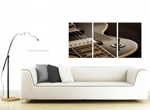 Set of 3 Music Canvas Wall Art 125cm x 60cm 3125