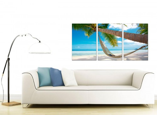 3 Panel Sea Canvas Pictures 125cm x 60cm 3039