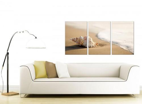 Three Part Sea Canvas Pictures 125cm x 60cm 3146