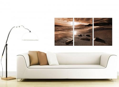 3 Part Sea Canvas Prints 125cm x 60cm 3076