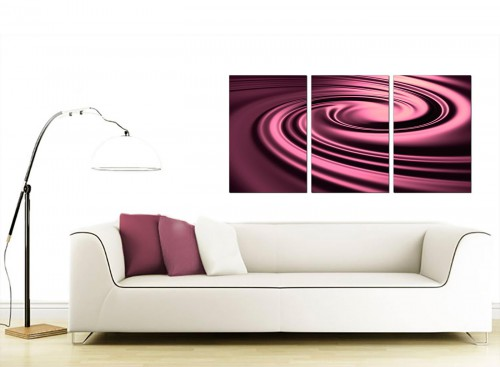Set of Three Abstract Canvas Pictures 125cm x 60cm 3059
