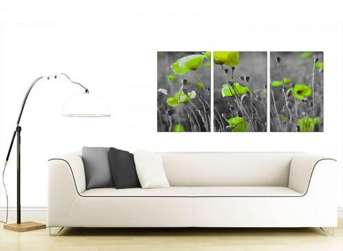 3 Part Flower Canvas Art 125cm x 60cm 3138