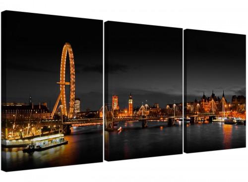 Set of 3 City Canvas Prints UK Big Ben 3186