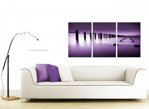 Set of 3 Seascape Canvas Prints UK 125cm x 60cm 3086