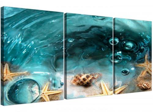 3 part seaside starfish canvas art bathroom 3253