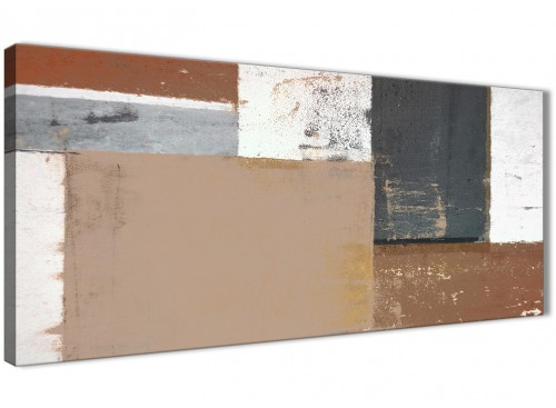 Oversized Brown Beige Grey Abstract Painting Wall Art Print Canvas Modern 120cm Wide 1335 For Your Living Room