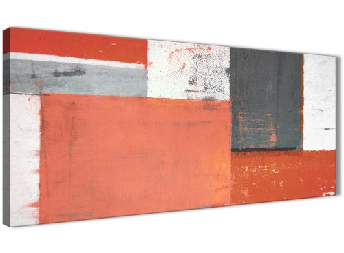 Oversized Coral Grey Abstract Painting Canvas Wall Art Pictures Modern 120cm Wide 1336 For Your Living Room