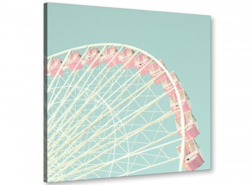 cheap shabby chic duck egg blue pink ferris wheel lifestyle canvas modern 79cm square 1s282l for your girls bedroom