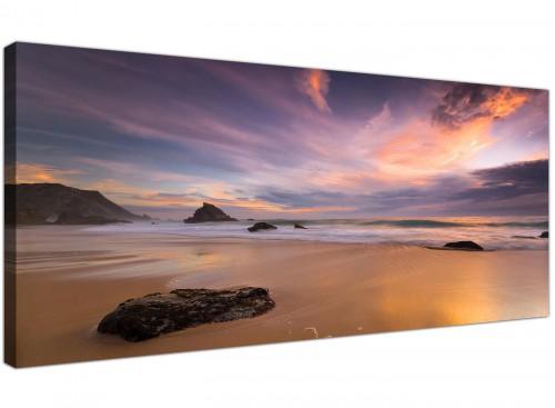 large purple plum seascape canvas art 1198