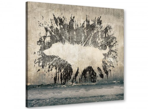 cheap banksy wet dog graffiti banksy canvas modern 64cm square 1s292m for your boys bedroom