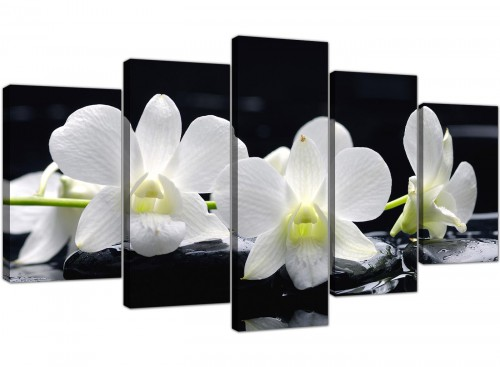 Black-White Living Room Five Part Set of Lily