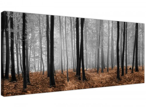 Brown Black White Woodlands