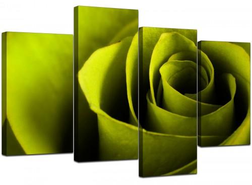 Set Of 4 Living-Room Green Canvas Wall Art