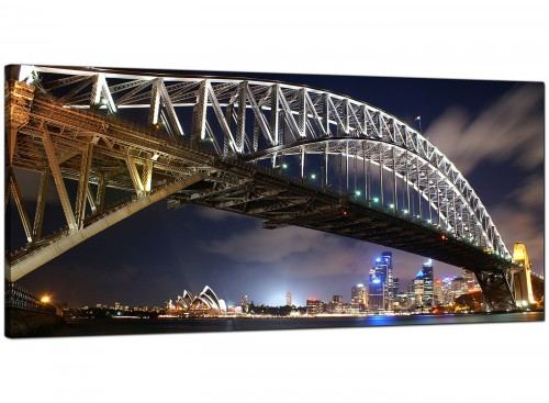 Blue Modern Large Canvas of Sydney Harbour