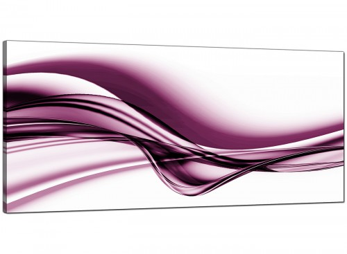 Plum Bedroom Extra Large Abstract Canvas
