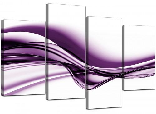 Four Part Set of Cheap Purple Canvas Pictures