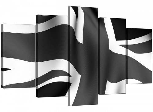 Set Of Five Cheap Black White Canvas Art