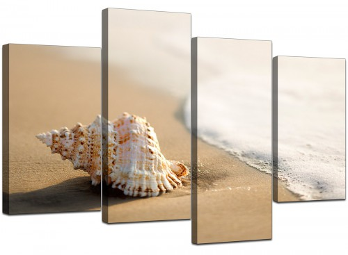Set Of Four Cheap Beige Canvas Wall Art
