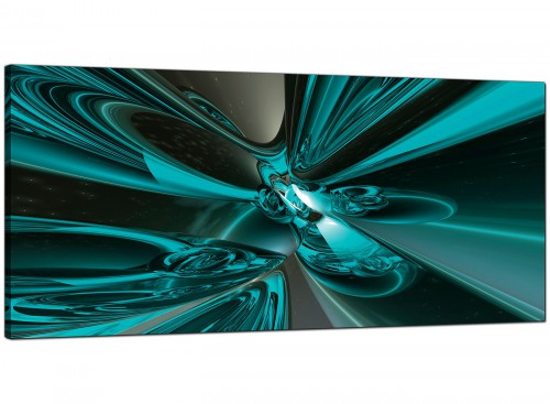 Teal Living Room Large Abstract Canvas