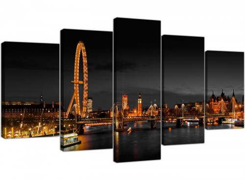 Extra Large Canvas Pictures Living Room Landscape 160cm x 75cm 5186