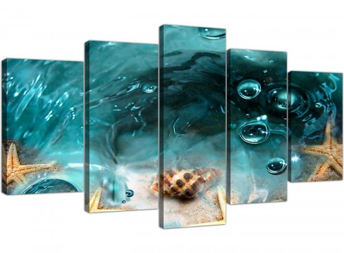 Extra large canvas prints bathroom 5 panel 5253