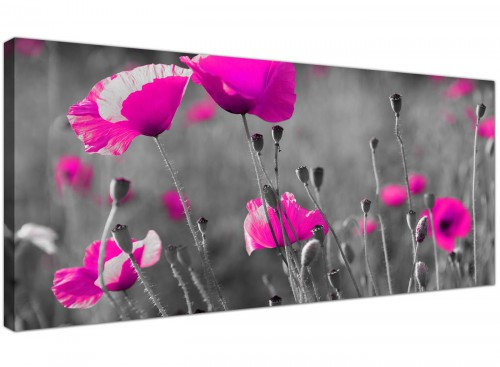 Trendy Canvas Prints UK Monochrome Grey Wide 1137