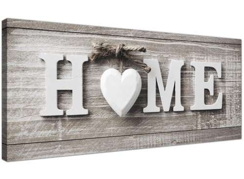 Oversized Shabby Chic Home Quote Grey Canvas Modern 120cm Wide 1317 For Your Kitchen