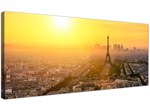 Cheap Canvas Art Yellow Wide Landscape France 1153