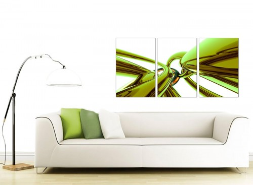 Set of 3 Abstract Canvas Wall Art 125cm x 60cm 3035