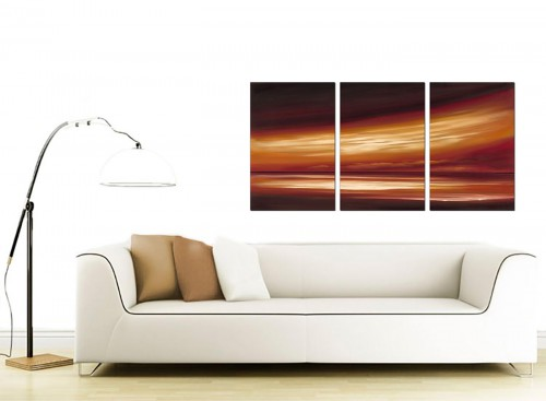 3 Part Sea Canvas Wall Art 125cm x 60cm 3147