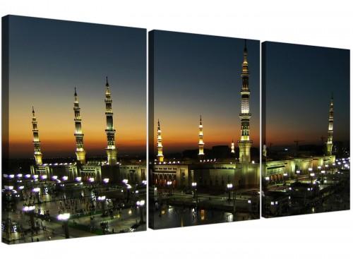 set of 3 al masjid an nabawi canvas prints living room 3230