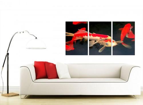 Set of 3 Animal Canvas Prints 125cm x 60cm 3094