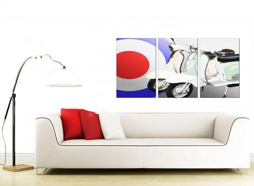 3 Panel Automotive Canvas Prints UK 125cm x 60cm 3150