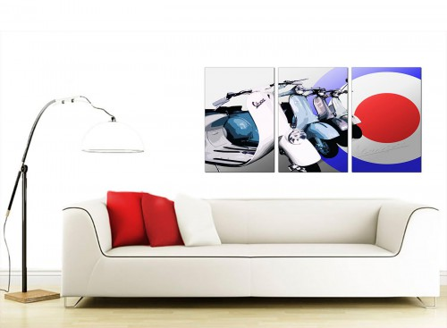 Triptych Automotive Canvas Pictures 125cm x 60cm 3149