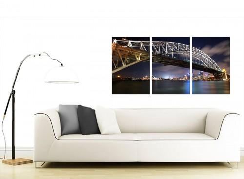 Set of 3 Australian City Canvas Wall Art 125cm x 60cm 3041