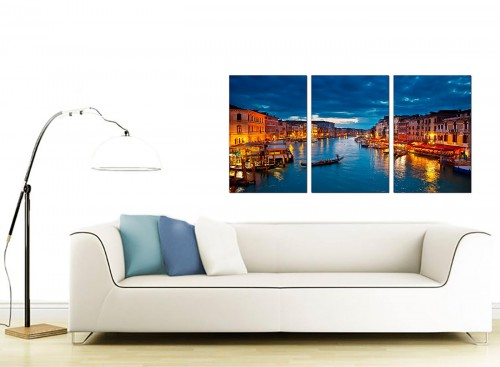 3 Part Italian City Canvas Prints 125cm x 60cm 3068