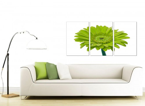 3 Panel Floral Canvas Pictures 125cm x 60cm 3098