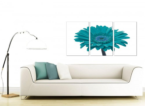 3 Panel Floral Canvas Wall Art 125cm x 60cm 3114