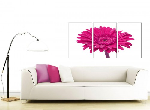 3 Panel Floral Canvas Wall Art 125cm x 60cm 3099
