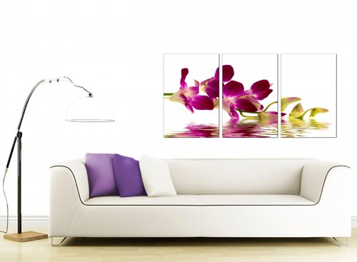 3 Part Flower Canvas Prints 125cm x 60cm 3021