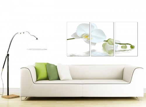 Set of 3 Flower Canvas Art 125cm x 60cm 3134