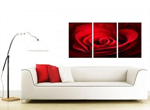 Set of 3 Flower Canvas Art 125cm x 60cm 3044