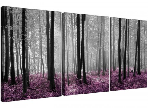 set of 3 forest woodland trees canvas prints girls bedroom 3240