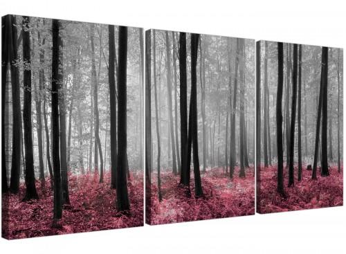 set of 3 forest woodland trees canvas prints uk girls bedroom 3241