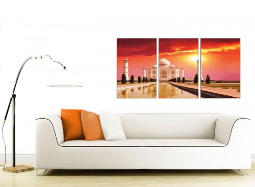 3 Panel Muslim Canvas Prints 125cm x 60cm 3193