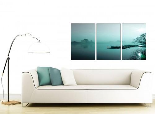 Set of 3 Landscape Canvas Pictures 125cm x 60cm 3118
